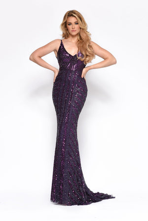 Jasz Couture 7156 prom dress images.  Jasz Couture 7156 is available in these colors: Plum.