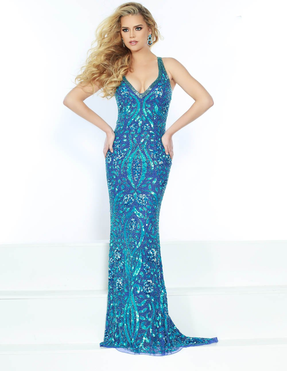 Jasz Couture 1514 prom dress images.  Jasz Couture 1514 is available in these colors: Turquoise.