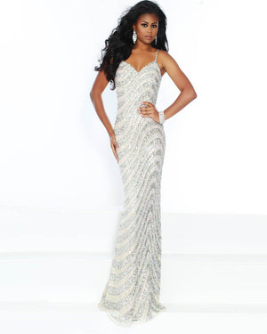 Jasz Couture 1516 prom dress images.  Jasz Couture 1516 is available in these colors: Navy, Nude.