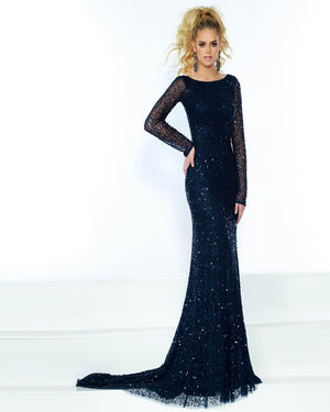 Jasz Couture 1534 prom dress images.  Jasz Couture 1534 is available in these colors: Navy, Silver.