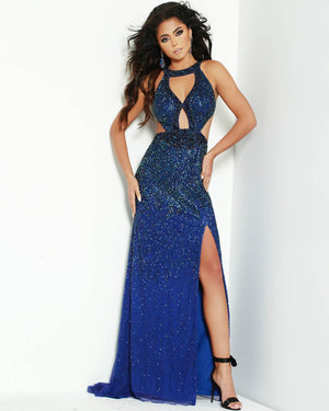 Jasz Couture 1568 prom dress images.  Jasz Couture 1568 is available in these colors: Navy.
