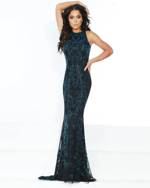 Jasz Couture 1572 prom dress images.  Jasz Couture 1572 is available in these colors: Black Multi.