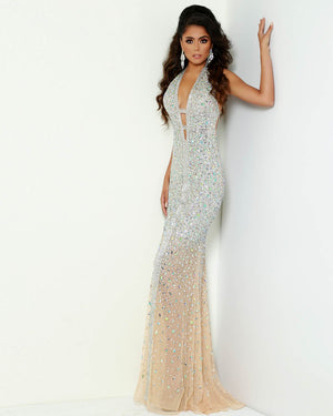 Jasz Couture 6425 prom dress images.  Jasz Couture 6425 is available in these colors: Nude.