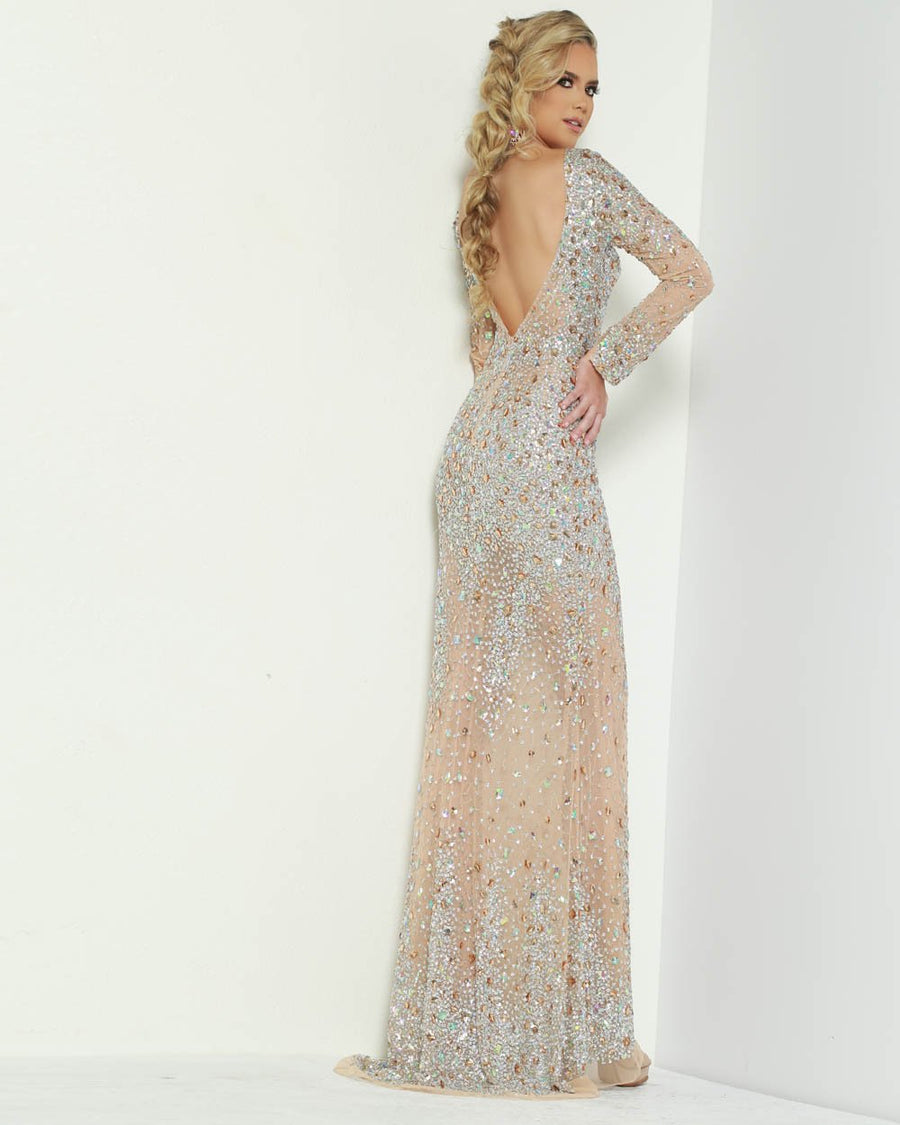 Jasz Couture 6455 prom dress images.  Jasz Couture 6455 is available in these colors: Nude.