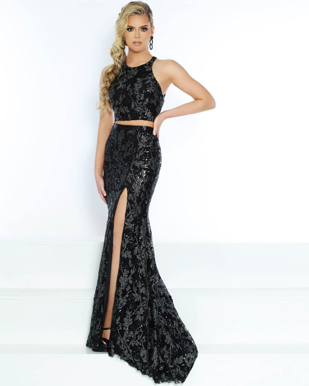 Jasz Couture 6488 prom dress images.  Jasz Couture 6488 is available in these colors: Black.