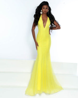 Jasz Couture 6489 prom dress images.  Jasz Couture 6489 is available in these colors: Cobalt, Lemon, Nude.