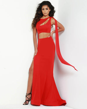 Jasz Couture 6494 prom dress images.  Jasz Couture 6494 is available in these colors: Black, Red, Yellow.