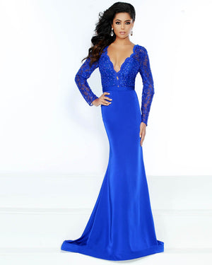 Jasz Couture 6496 prom dress images.  Jasz Couture 6496 is available in these colors: Royal.