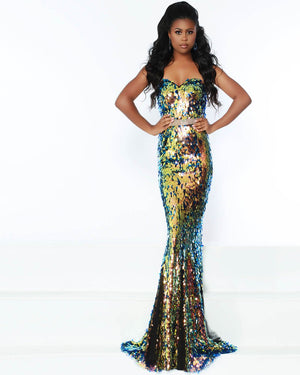Jasz Couture 6500 prom dress images.  Jasz Couture 6500 is available in these colors: Disco Blue.