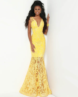 Jasz Couture 6502 prom dress images.  Jasz Couture 6502 is available in these colors: Yellow.