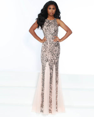Jasz Couture 6505 prom dress images.  Jasz Couture 6505 is available in these colors: Rose.