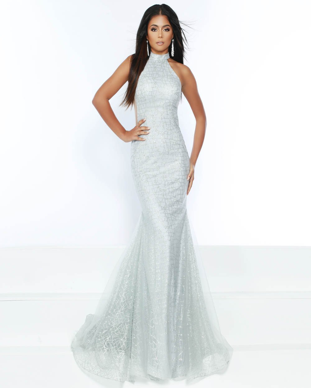 Jasz Couture 6508 prom dress images.  Jasz Couture 6508 is available in these colors: Silver, Yellow.