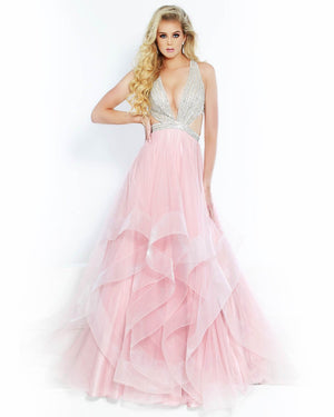 Jasz Couture 6510 prom dress images.  Jasz Couture 6510 is available in these colors: Blush, White.