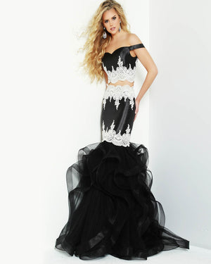 Jasz Couture 6513 prom dress images.  Jasz Couture 6513 is available in these colors: Black White, Periwinkle, Rose.