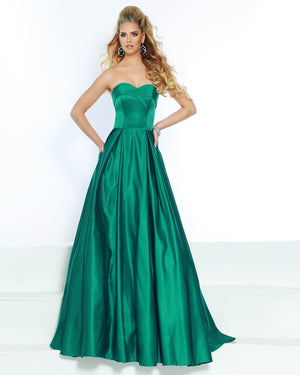 Jasz Couture 6520 prom dress images.  Jasz Couture 6520 is available in these colors: Emerald, Red.