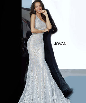 Jovani 00353 prom dress images.  Jovani 00353 is available in these colors: Silver, Black Silver, Navy Silver.