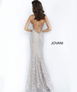 Jovani 00355 prom dress images.  Jovani 00355 is available in these colors: Silver Nude.