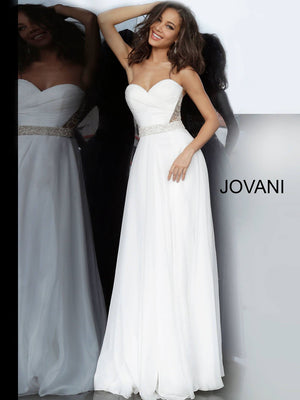 Jovani 00457 prom dress images.  Jovani 00457 is available in these colors: Off White, Red, Royal, Yellow.