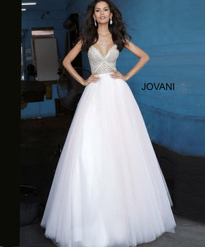 Jovani 00580 prom dress images.  Jovani 00580 is available in these colors: Blush.