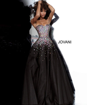 Jovani 00630 prom dress images.  Jovani 00630 is available in these colors: Black Multi.