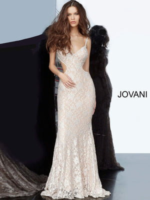 Jovani 00780 prom dress images.  Jovani 00780 is available in these colors: Champagne, Light Blue, Silver.