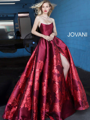 Jovani 02038 prom dress images.  Jovani 02038 is available in these colors: Green, Purple, Red.