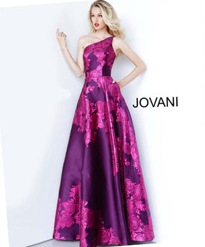 Jovani 02045 prom dress images.  Jovani 02045 is available in these colors: Green, Purple, Red.