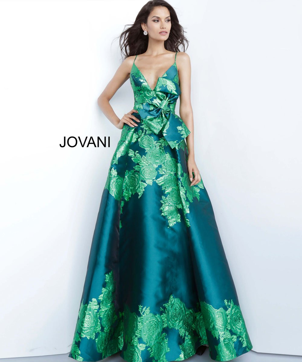 Jovani 02046 prom dress images.  Jovani 02046 is available in these colors: Green, Purple, Red.