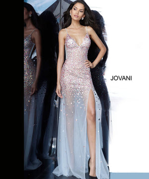 Jovani 02047 prom dress images.  Jovani 02047 is available in these colors: Light Blue.