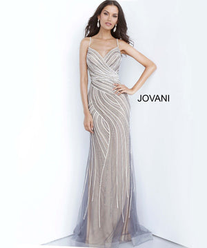 Jovani 02408 prom dress images.  Jovani 02408 is available in these colors: Grey Nude, Light Blue, Lilac.