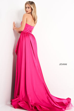 Jovani 02563 prom dress images.  Jovani 02563 is available in these colors: Fuchsia, Ivory, Red, Royal.
