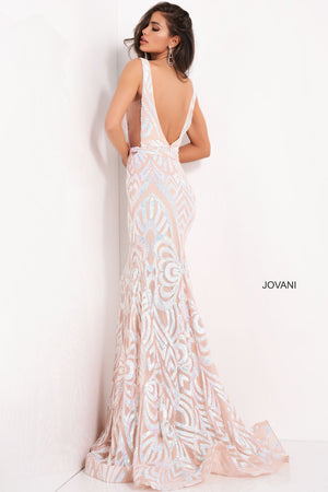 Jovani 02753 prom dress images.  Jovani 02753 is available in these colors: Black Peacock, Blush Nude, Lilac  Nude, Yellow.