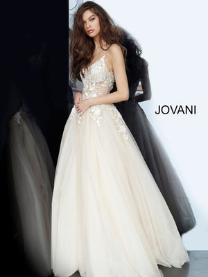 Jovani 02758 prom dress images.  Jovani 02758 is available in these colors: Nude.