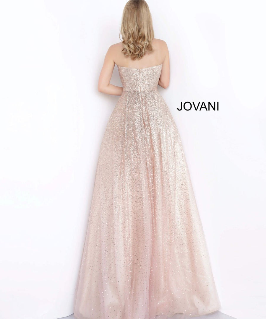 Jovani 02875 prom dress images.  Jovani 02875 is available in these colors: Blush, Fuchsia.