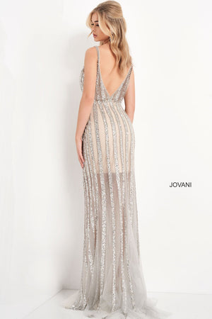Jovani 03185 prom dress images.  Jovani 03185 is available in these colors: Black, Silver.