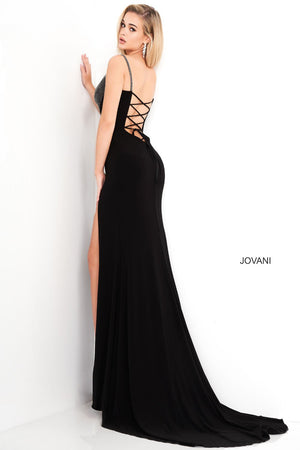 Jovani 03251 prom dress images.  Jovani 03251 is available in these colors: Black.