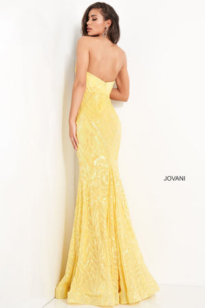 Jovani 03445 prom dress images.  Jovani 03445 is available in these colors: Black Peacock, Blush Nude, Lilac  Nude, Yellow.