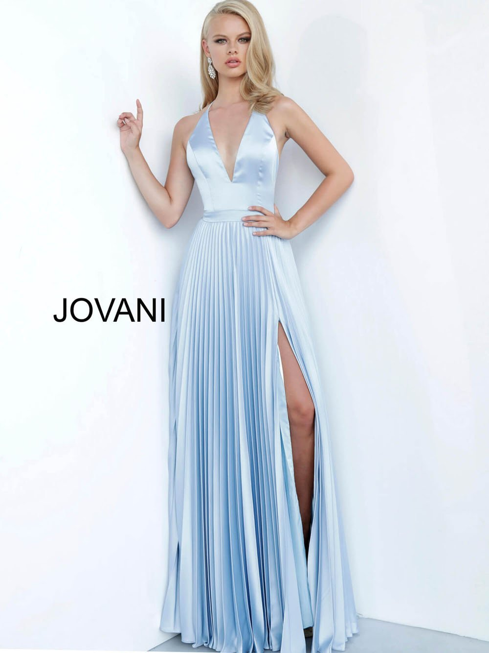 Jovani 03470 prom dress images.  Jovani 03470 is available in these colors: Fuchsia, Light Blue, Peacock, Red, Yellow.