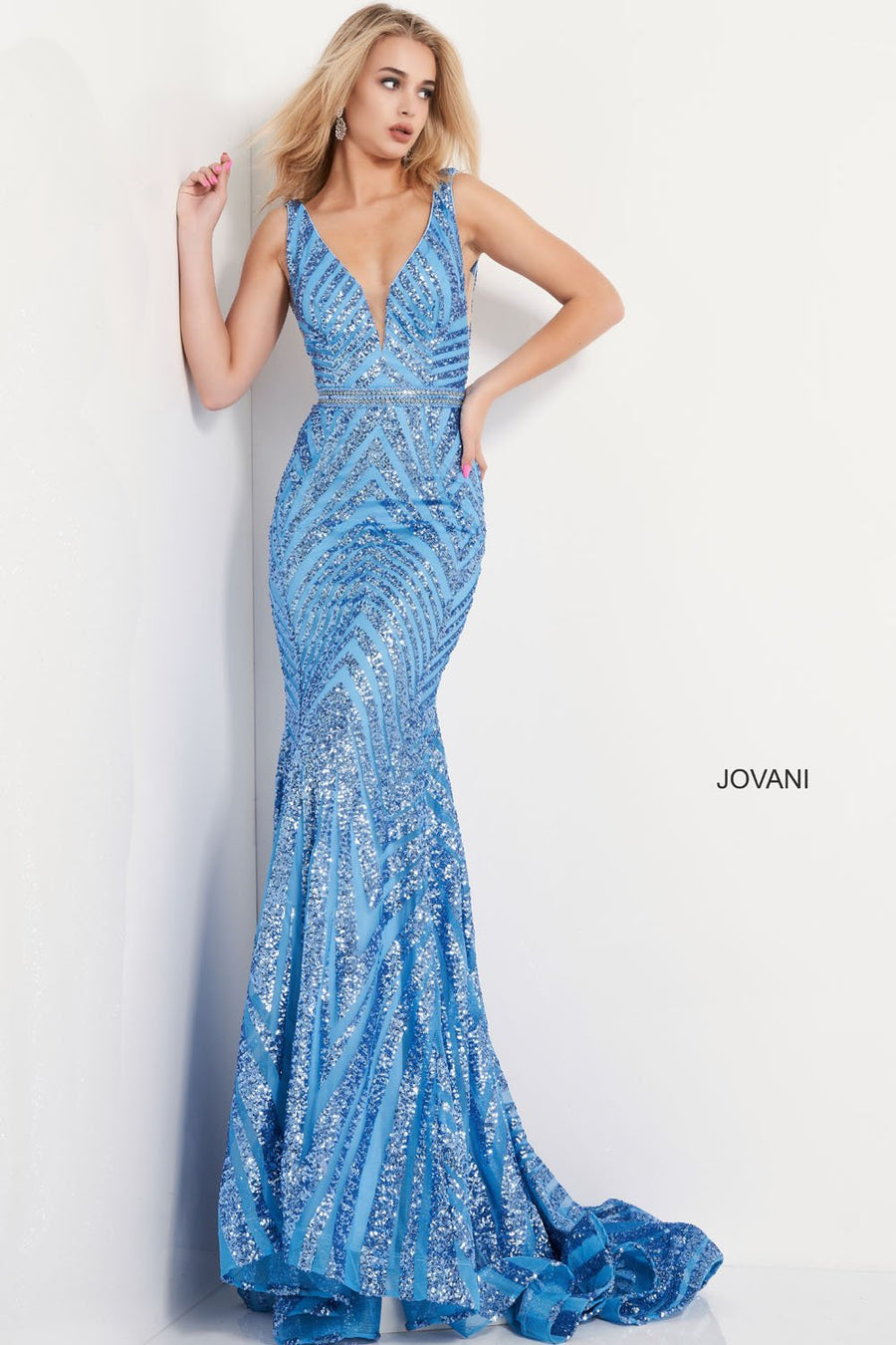 Jovani 03570 prom dress images.  Jovani 03570 is available in these colors: Black Nude, Light Blue, Red, Rose Gold, Yellow.