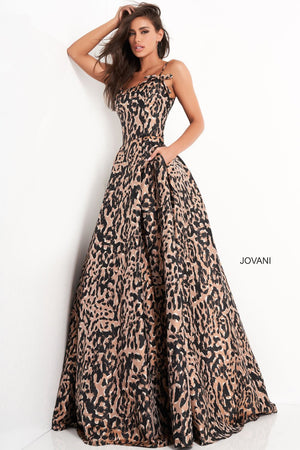 Jovani 03838 prom dress images.  Jovani 03838 is available in these colors: Multi.