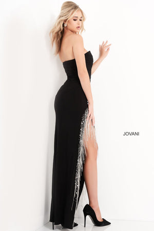 Jovani 03972 prom dress images.  Jovani 03972 is available in these colors: Black, Off White, Red.