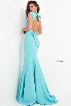 Jovani 04098 prom dress images.  Jovani 04098 is available in these colors: Cranberry, Navy, Turquoise.