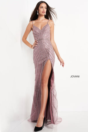 Jovani 04509 prom dress images.  Jovani 04509 is available in these colors: Copper, Green, Ivory, Lavender, Mauve.
