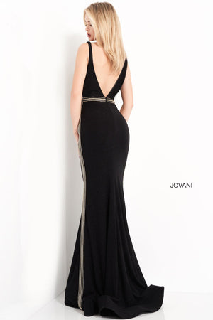 Jovani 04535 prom dress images.  Jovani 04535 is available in these colors: Black.