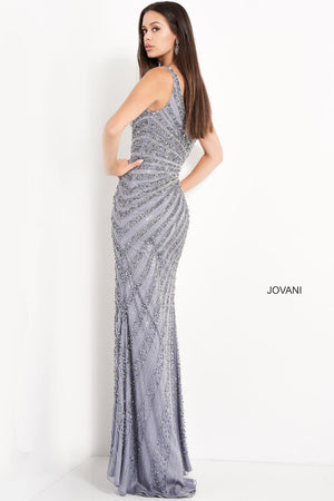 Jovani 04539 prom dress images.  Jovani 04539 is available in these colors: Smoke.