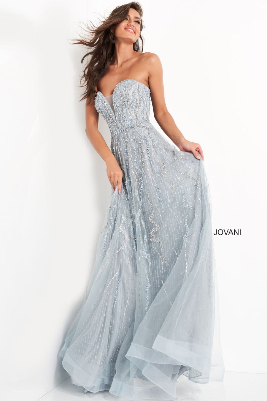 Jovani 04633 prom dress images.  Jovani 04633 is available in these colors: Blue.
