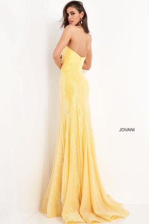 Jovani 04831 prom dress images.  Jovani 04831 is available in these colors: Fuchsia, Light Blue, Yellow.