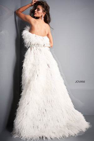 Jovani 04936 prom dress images.  Jovani 04936 is available in these colors: Off White.