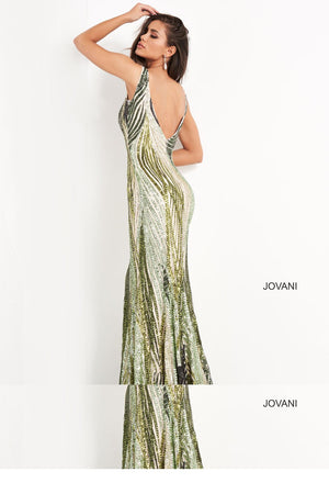 Jovani 05103 prom dress images.  Jovani 05103 is available in these colors: Green .