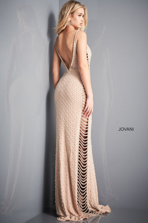 Jovani 05329 prom dress images.  Jovani 05329 is available in these colors: Nude Silver.